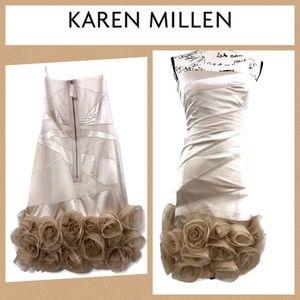 Karen Millen Wiggle Strapless Corset Dress
